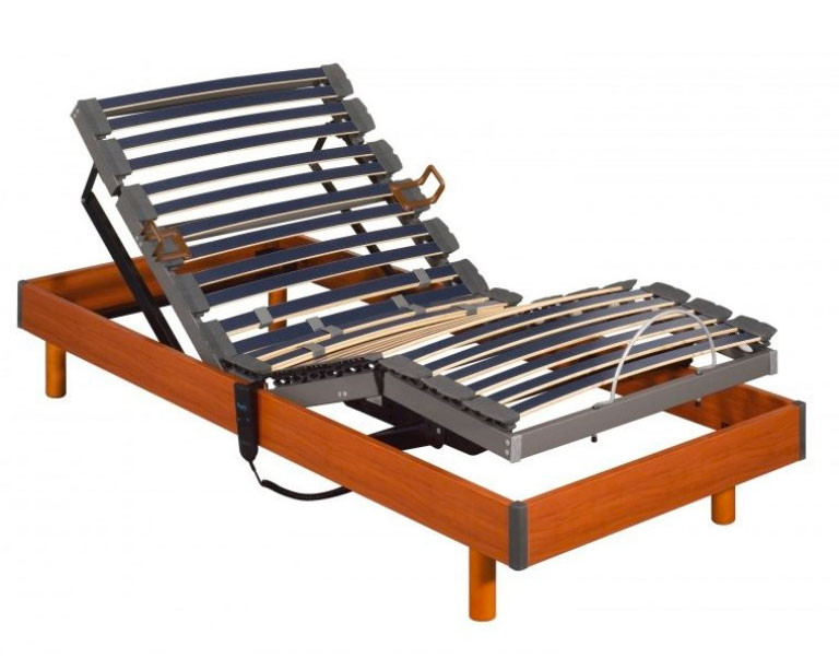 Somier articulado electrico 5 planos Futurlam madera de Pikolin