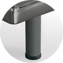 Patas Sonpura metálica cilíndrica gris-oscuro