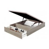 Canapé abatible madera 25 Flex con zapatero - gris