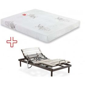 Pack colchón latex + somier articulado