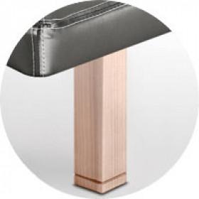 Patas Sonpura madera cuadrada abedul / pie biselado